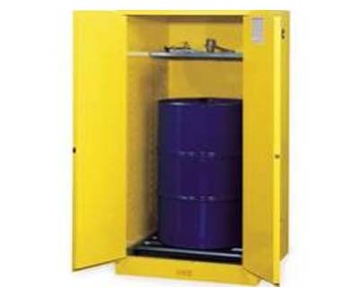 Justrite 896200 55G Flammable Cabinet Manual Doors Yellow VDRM